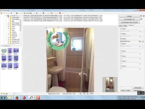 Tutorial PhotoScape, watermark pe mai multe poze deodata