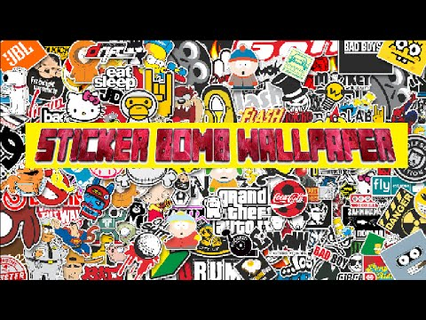HOW TO GET STICKER BOMB WALLPAPER