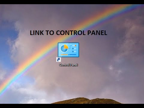 How to create an easy access link to the old control panel on Windows 10