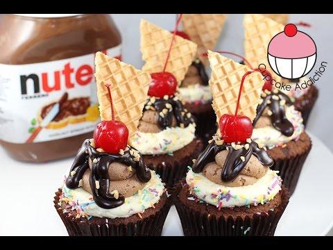 Nutella Fudge Cupcakes! Small Batch Cupcake Recipe by Cupcake Addiction
