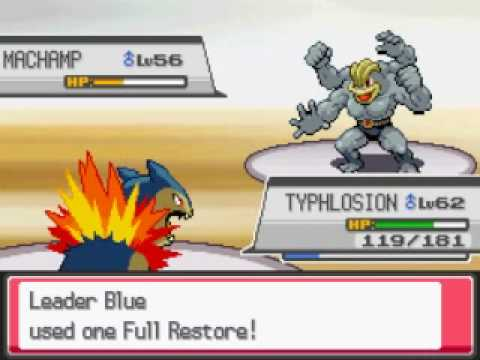 Pokemon Heart Gold - Viridian City Gym Leader Blue/Green