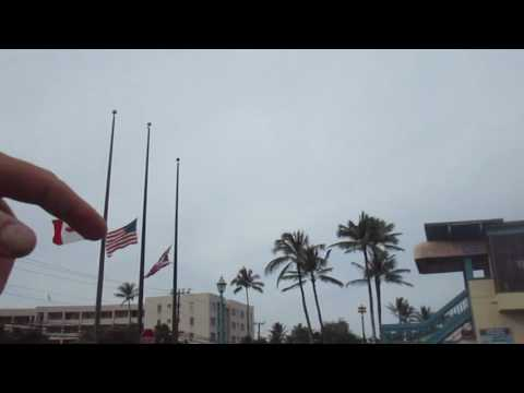 Flags at Half Mast to Remember Pearl Harbour