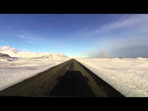 Timelapse Reykjavík-Jökulsárlón: round trip in winter