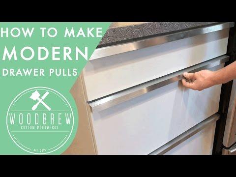 How To Make Cheap Modern Drawer Pulls