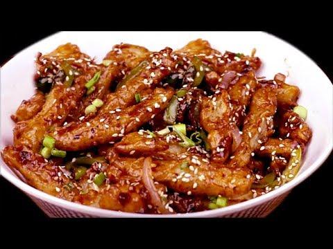 क्रिस्पी चिल्ली पोटेटो बनाने की विधि   Chilli Potato recipe in hindi   Indo chinese starter recipe