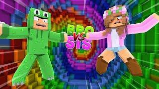 BRO VS SIS  ULTIMATE DROPPER CHALLENGE! Minecraft Little Kelly w/ LittleLizard