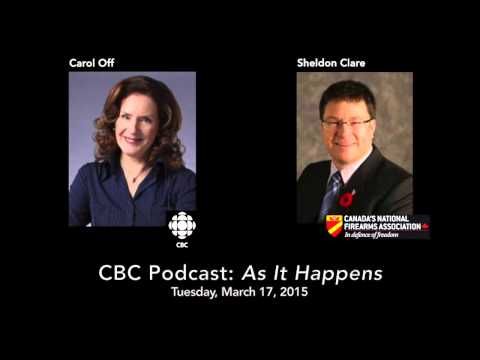 Can Canadians use guns for self-protection? Sheldon Clare with Carol Off on CBC