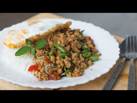 Thai Holy Basil Stir-Fry Recipe (Pad Gaprao) ผัดกะเพรา - Hot Thai Kitchen!