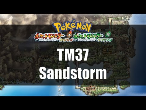 Pokemon Fire Red & Leaf Green | Where to find TM37 Sandstorm