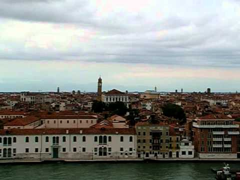 Venice from a cruise ship sailing from the port  part 1