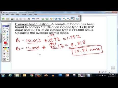 Average Atomic Mass and Natural Abundance