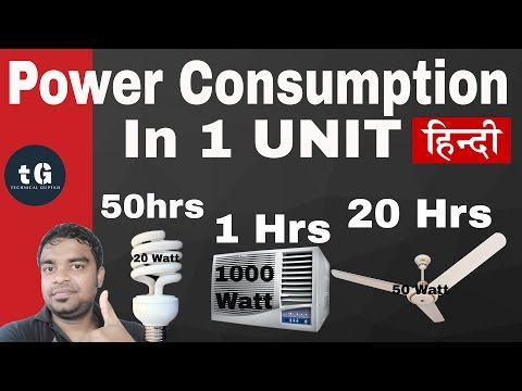 Hindi | Electric Power Consumption | Power Supply Calculator- Technical Gupta