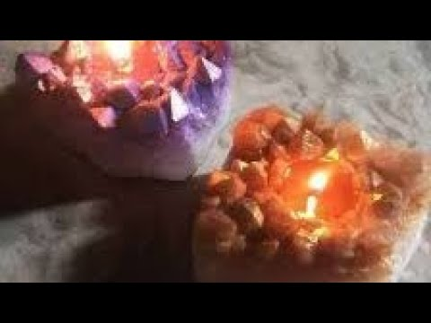 How to make own crystal candles DIY at Home.