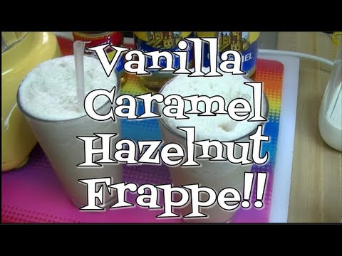 Vanilla Caramel Hazelnut Frappe!  Torani Friday!  Noreen's Kitchen
