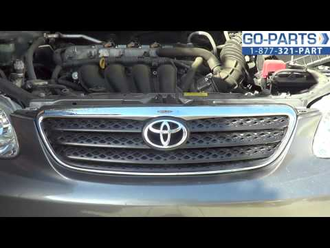 Replace 2003-2008 Toyota Corolla Front Grille, How to Change Install 2004 2005 2006 2007