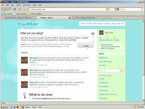 How to share webpages in twitter with automatic text and URL shortening.