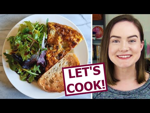Cook with Me! Roasted Veggie Frittata + Dietitian Q&A