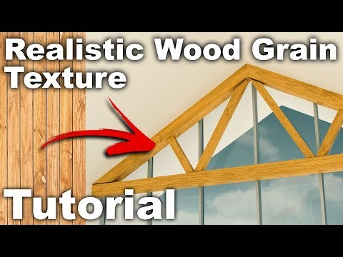 Realistic Wood Grain in Rendering with Photoshop Tutorial