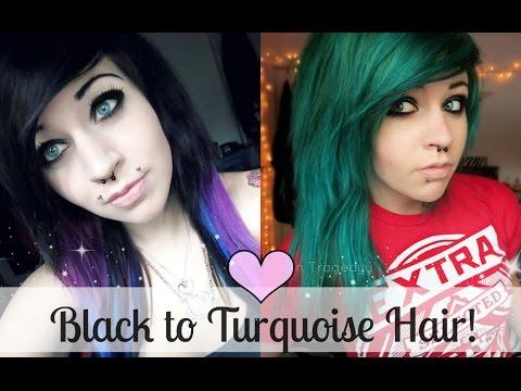 Bleaching/Dying my hair Green/Blue :D