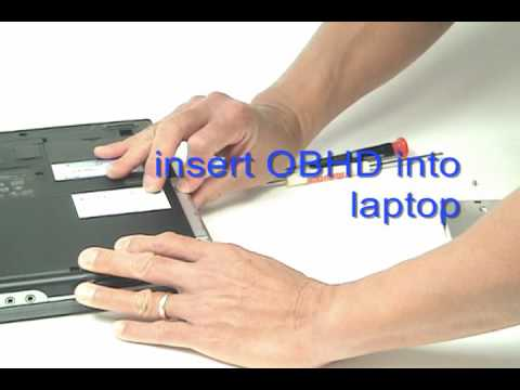 Replace a DELL laptop's optical drive with a Hard Drive