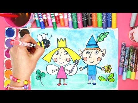 Ben and Holly's Little Kingdom Colouring Page Creative Drawing, Painting and Coloring for Kids
