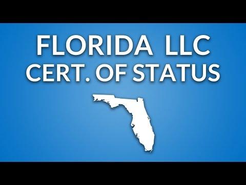 Florida LLC - Certificate of Status