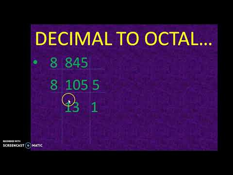 DECIMAL TO OCTAL CONVERSATION