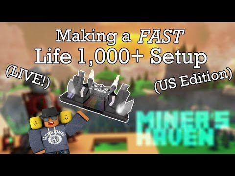 Miners Haven: Making a FAST life 1.000+ setup (LIVE) (US EDITION)