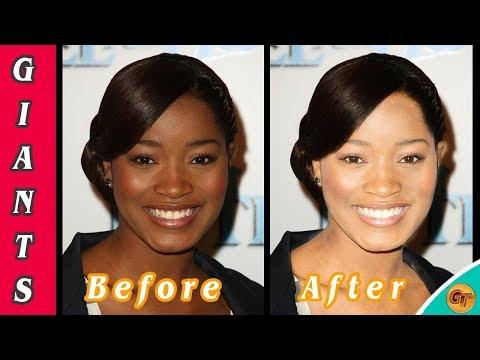 black to white skin color change photoshop cc tutorials