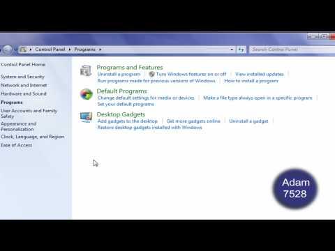 Remove Internet Explorer 8 in Windows 7 [HD]