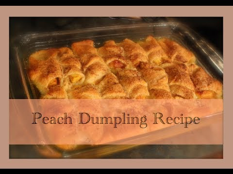 Peach Dumpling Recipe