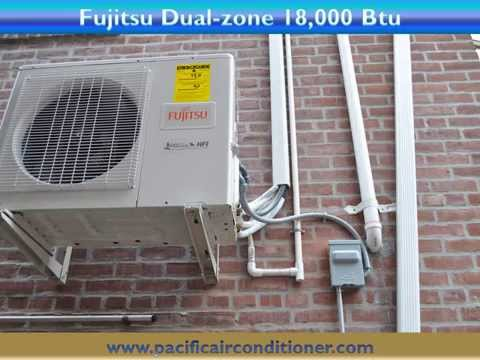 Installation of Fujitsu Ductless air conditioning Heat Pump in Astoria