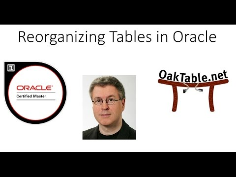 Reorganizing Tables in Oracle