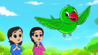 Mera Tota - Main Mittu Tota - मेरा तोता मैं तोता - FunForKidsTV - Hindi Rhymes