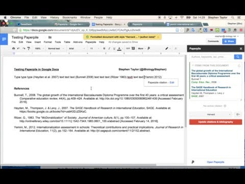 PaperPile Test: Google Docs Add-on for Research