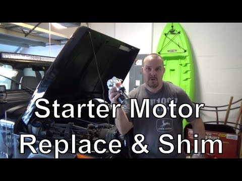 How to Change and Shim a Starter Motor