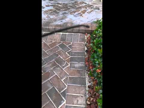 Stripping bad paver sealer off brick pavers