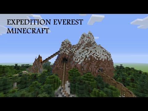 Expedition Everest Legend of the Forbidden Mountain: Minecraft Roller Coaster