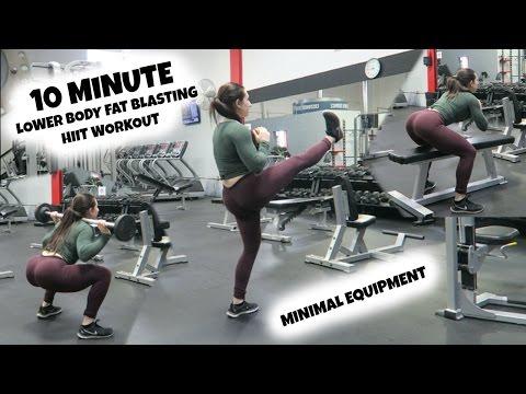 10 Minute FAT BLASTING Lower Body HIIT Circuit | Minimal Equipment Needed