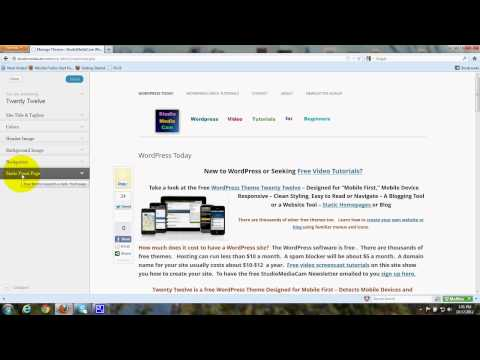 Customize - Wordpress Theme Twenty Twelve  - Tutorial