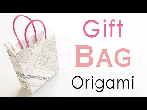 Origami Paper Carrier Gift Bag Instruction - Origami Kawaii〔#140〕