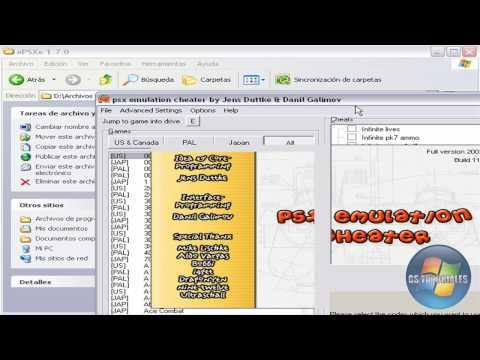 Como usar gameshark en el ePSXe Enhanced Emulator
