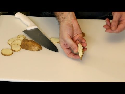 Practical Knife Skills | How to use a Chef's Knife | How to Cut Onions, Garlic, Potatoes