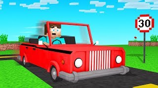 We Drove REAL CARS In MINECRAFT!