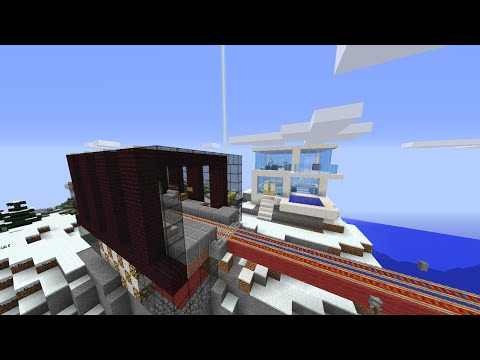 Minecraft automatic railway system