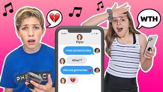 TIK TOK SONG LYRIC TEXT PRANK on my CRUSH! **funny REACTION** 💔🥺| Piper Rockelle