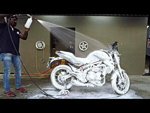 Foam Bike Wash | Benelli TNT 300 | Bangalore India