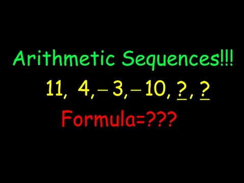 How to find arithmetic sequences given first three terms algebra 2 honors regents common core 9 4 mc