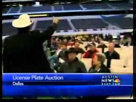 License plate name auction benefits TX
