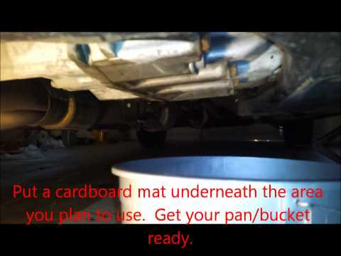 2007 Honda Accord V6 Automatic Transmission Fluid ATF Change/ Flush - Drain and Refill